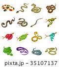 ヘビ 蛇 アイコンのイラスト 35107137