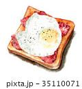 食パン トースト パンのイラスト 35110071