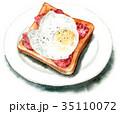 食パン トースト パンのイラスト 35110072