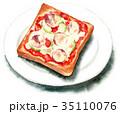 ベーカリー トースト 水彩のイラスト 35110076