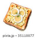 食パン トースト パンのイラスト 35110077