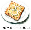 トースト 調理パン 水彩のイラスト 35110078
