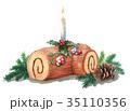 ブッシュドノエル クリスマスケーキ ケーキのイラスト 35110356