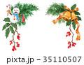 水彩 クリスマス 飾りのイラスト 35110507