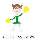 女性 ポンポン 人物のイラスト 35112789