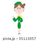 案内 女性 人物のイラスト 35113057