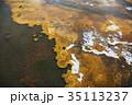 硫黄 背景素材 惑星イメージ 35113237