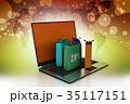 ノートパソコン パソコン 販売のイラスト 35117151