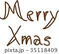 メリークリスマス 手書き文字 35118409