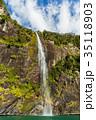 ニュージーランド フィヨルドランド国立公園 ミルフォードサウンド フェアリー滝 35118903
