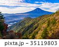 三ツ峠山 富士山 秋の写真 35119803
