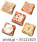 パン トースト 水彩のイラスト 35121825