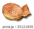 たい焼き 水彩 和菓子のイラスト 35121830