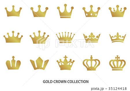 ゴールド王冠 セット 35124418