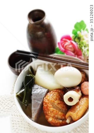 和食のおでんとあつかんの写真素材 [35126023] - PIXTA