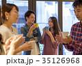 カップル カフェ 喫茶店の写真 35126968