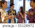 カップル カフェ 喫茶店の写真 35126972