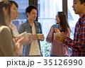 カップル カフェ 喫茶店の写真 35126990