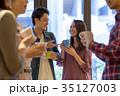カップル カフェ 喫茶店の写真 35127003