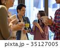 カップル カフェ 喫茶店の写真 35127005