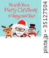 クリスマス サンタ サンタクロースのイラスト 35127504