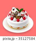 クリスマスケーキ 3Dイラスト  35127584