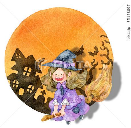 【ハロウィン】魔女っこ フレーム 35128897