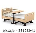 介護ベッドとテーブル 3Dイラスト 35128941
