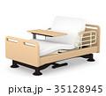 介護ベッドとテーブル リクライニング 3Dイラスト 35128945