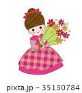 女の子 花束 発表会 ドレス 35130784