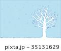 冬の木のイラスト 35131629