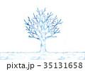 冬 木 水彩のイラスト 35131658