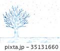 冬 木 雪のイラスト 35131660