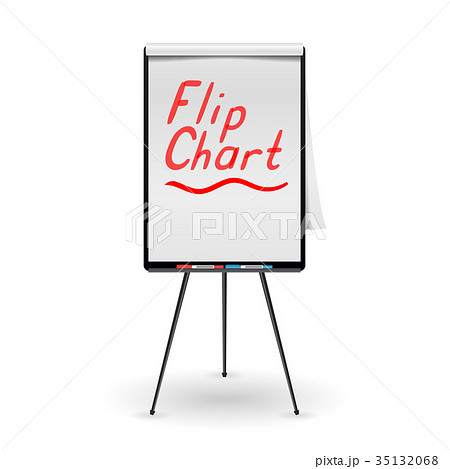 flip chart vector office whiteboard のイラスト素材 35132068 pixta