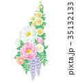 和風 花束 植物のイラスト 35132133