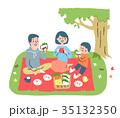 人物 家族 ピクニックのイラスト 35132350