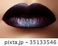くちびる 唇 口紅の写真 35133546