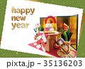 年賀状テンプレート写真 35136203