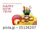 年賀状テンプレート写真 35136207
