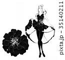 女性 ドレス ファッションのイラスト 35140211