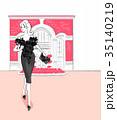 女性 ドレス ファッションのイラスト 35140219