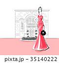 女性 ドレス ファッションのイラスト 35140222