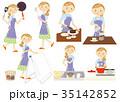 主婦 女性 ベクターのイラスト 35142852