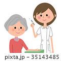 人物 看護師 女性のイラスト 35143485