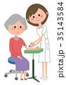 看護師と高齢者 採血 35143584