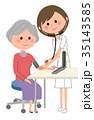 人物 看護師 女性のイラスト 35143585