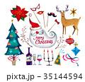 クリスマス素材 02 35144594