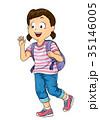 子供 少女 振るのイラスト 35146005