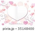 バレンタイン フレーム カードのイラスト 35148400