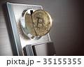 コイン 硬貨 ビットコインのイラスト 35155355